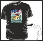 KOOLART AMERICAN MUSCLE CAR Design for New Shape Chevy Camero mens or ladyfit t-shirt